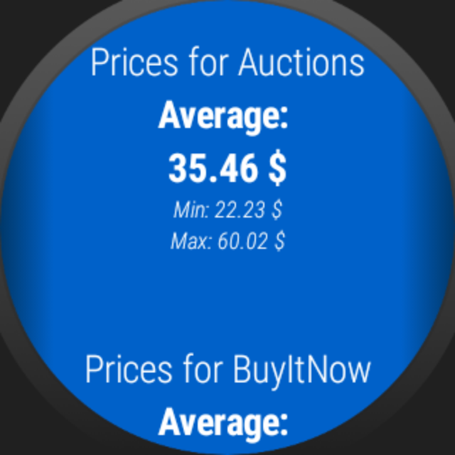 Auction Price Finder for Wear OS screenshot 6