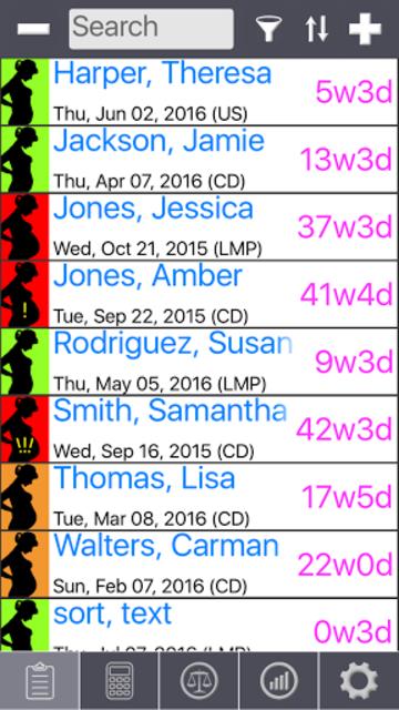 Prenatal Patient Tracker screenshot 1