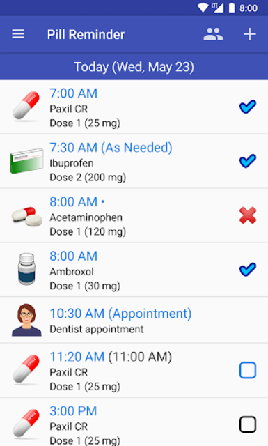 Pill Reminder - Medication Tracker with Alarm screenshot 1
