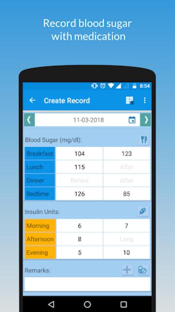 My Sugar Diary-Diabetes App screenshot 2