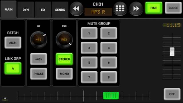 AirFader M7CL Pro screenshot 3