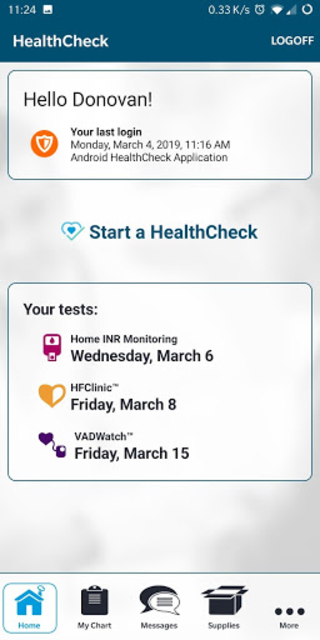 ACH HealthCheck screenshot 2