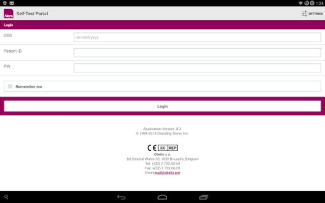 CoagClinic™ Self-Test Portal screenshot 6