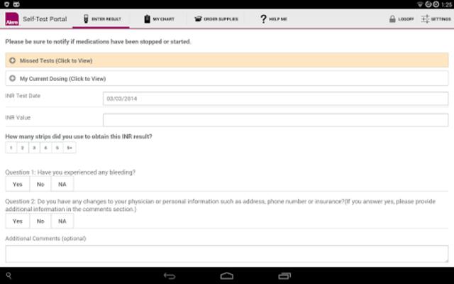 CoagClinic™ Self-Test Portal screenshot 7