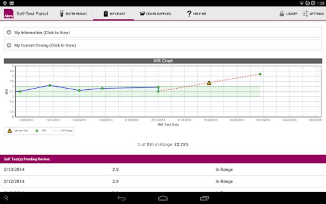 CoagClinic™ Self-Test Portal screenshot 8
