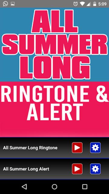All Summer Long Ringtone screenshot 1