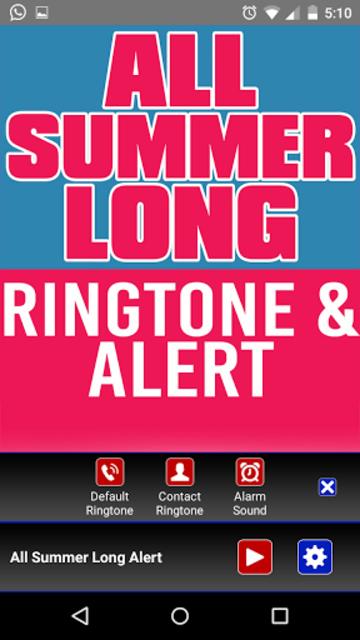 All Summer Long Ringtone screenshot 2