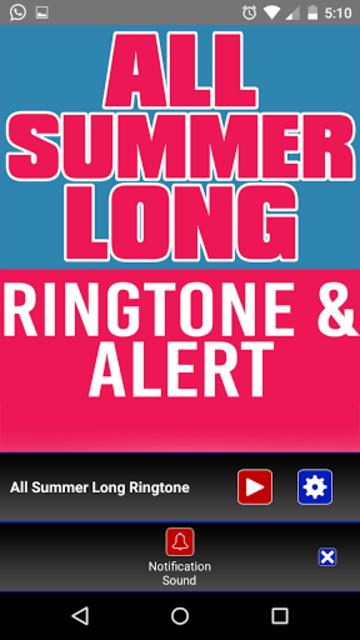 All Summer Long Ringtone screenshot 3