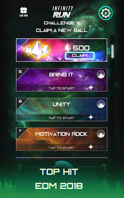 Infinity Run: Rush Balls On Rhythm Roller Coaster screenshot 14