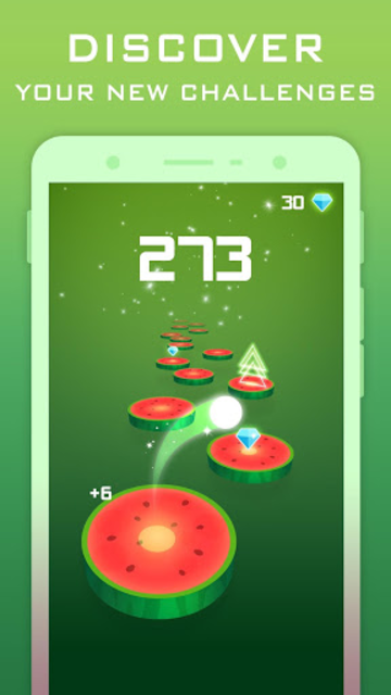 Splashy Tiles: Bouncing To The Fruit Tiles screenshot 1