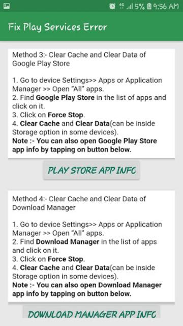 Fix Play Services Error & Update & Help Play Store screenshot 2