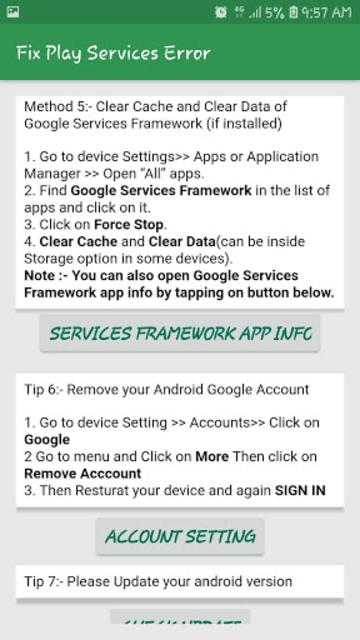 Fix Play Services Error & Update & Help Play Store screenshot 3