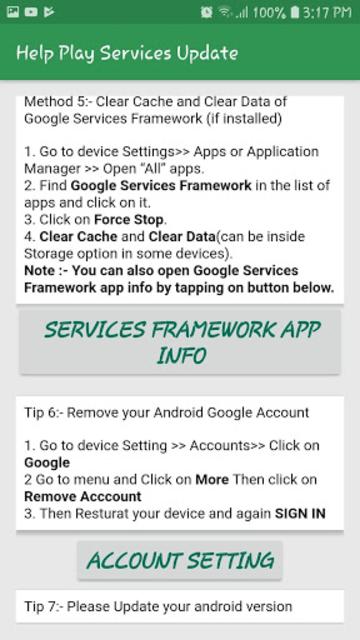 Fix Play Services Error & Update & Help Play Store screenshot 11
