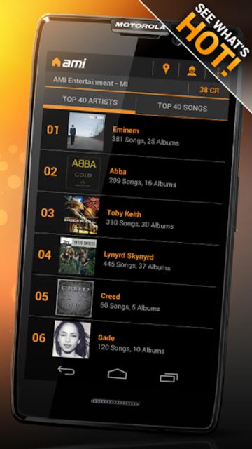 AMI Music (formerly BarLink) screenshot 6