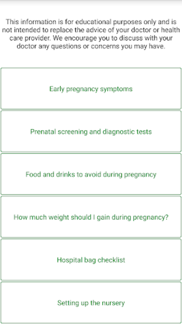 Pregnancy Due Date Calculator and Calendar screenshot 21