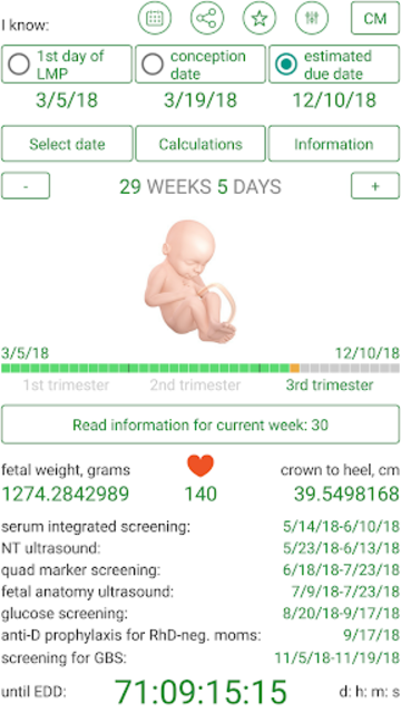Pregnancy Due Date Calculator and Calendar screenshot 3