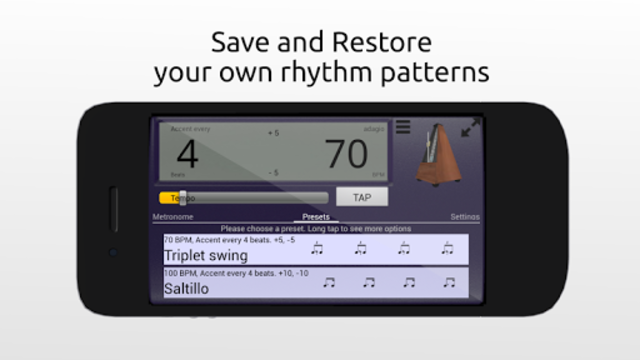 Creative Rhythm Metronome screenshot 2