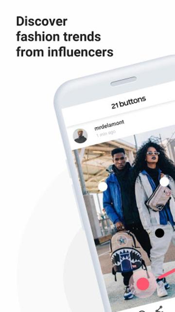 21 Buttons: Fashion Social Network & Clothing Shop screenshot 1
