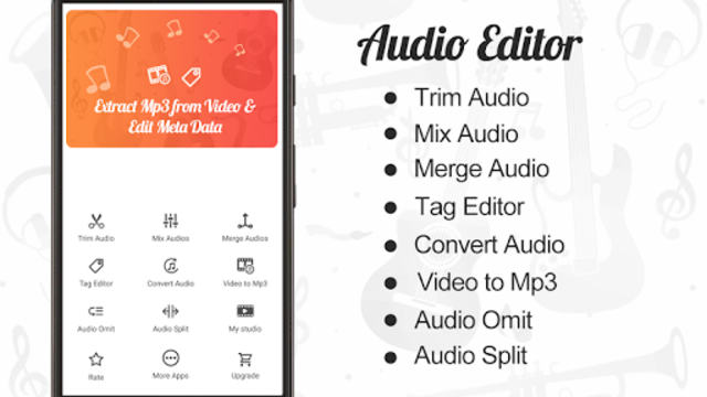 Audio Editor : Cut,Merge,Mix Extract Convert Audio screenshot 1
