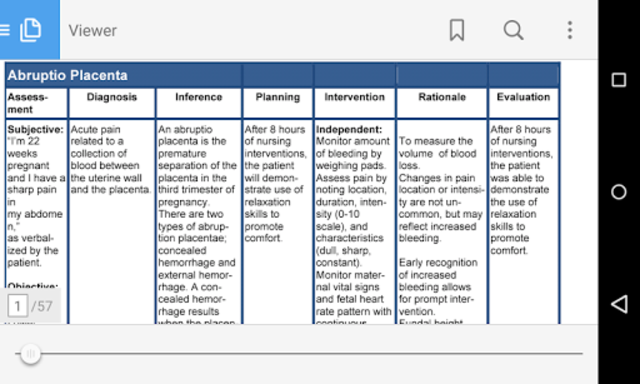 Nursing Care Plan NANDA Tables screenshot 3