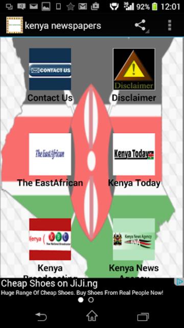 kenya newspapers screenshot 1