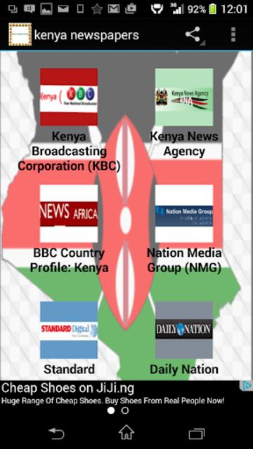 kenya newspapers screenshot 2