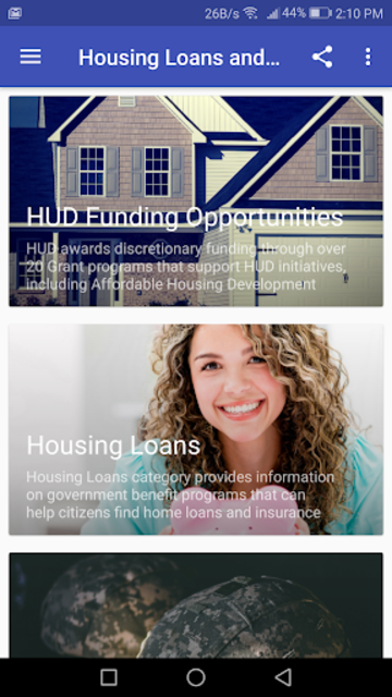 Housing Loans and Grants screenshot 2
