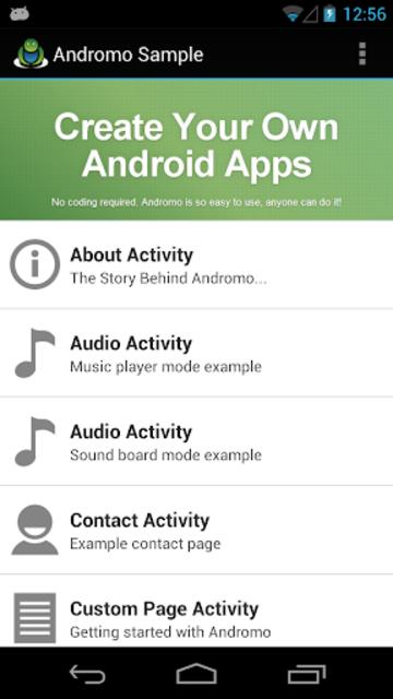 Andromo Sample screenshot 1