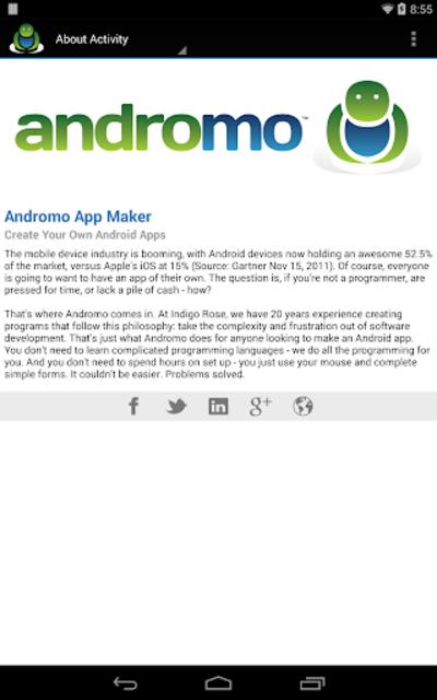 Andromo Sample screenshot 20