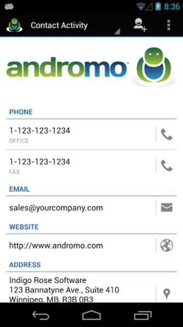 Andromo Sample screenshot 7
