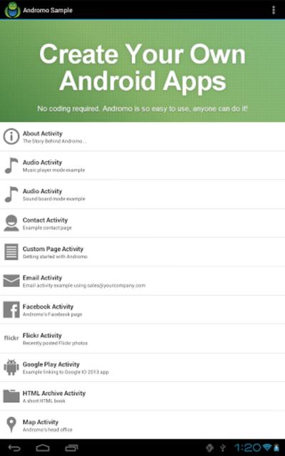 Andromo Sample screenshot 9