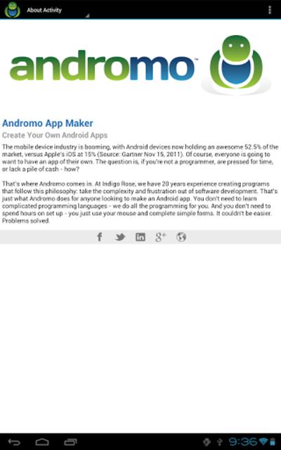 Andromo Sample screenshot 12