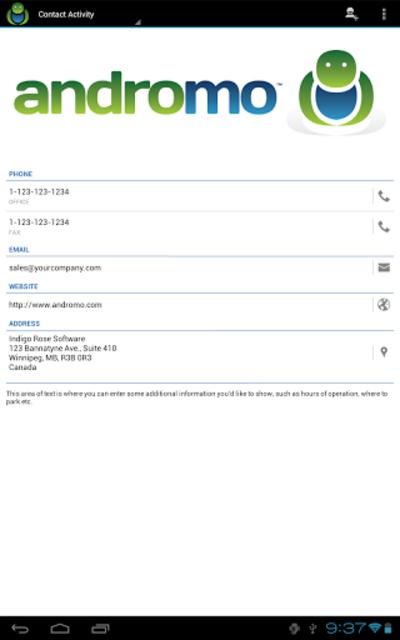 Andromo Sample screenshot 15