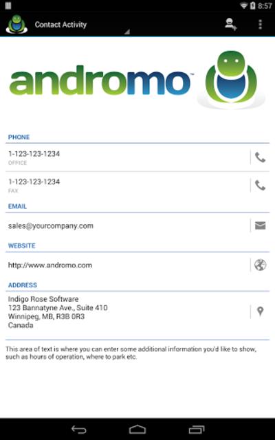 Andromo Sample screenshot 23