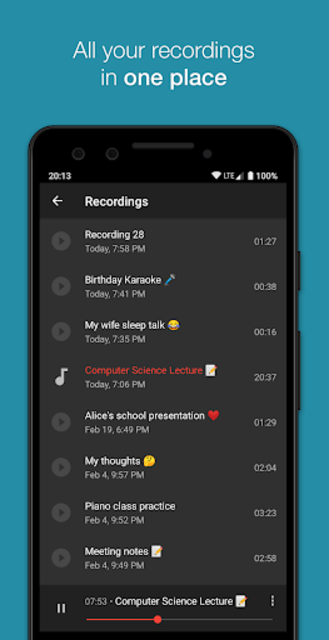 Smart Recorder – High-quality voice recorder screenshot 6