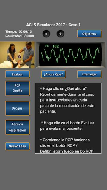 ACLS Simulador 2017 screenshot 2