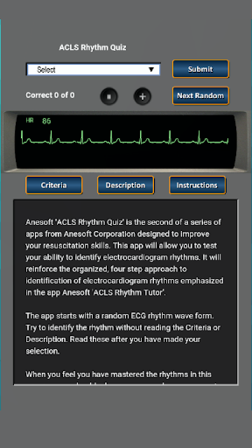 ACLS Rhythm Quiz screenshot 1