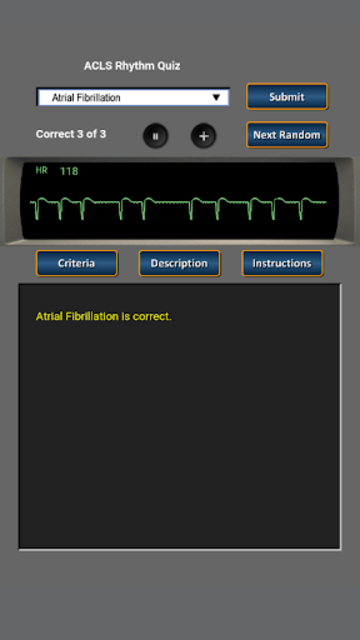 ACLS Rhythm Quiz screenshot 2