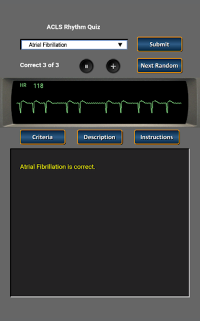 ACLS Rhythm Quiz screenshot 6