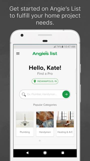 Angie's List screenshot 1