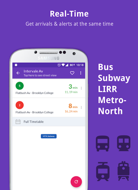 NYC Transit: MTA Subway, Rail, Bus Tracker screenshot 1