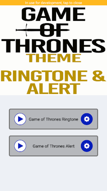 Game of Thrones Ringtone and Alert screenshot 2
