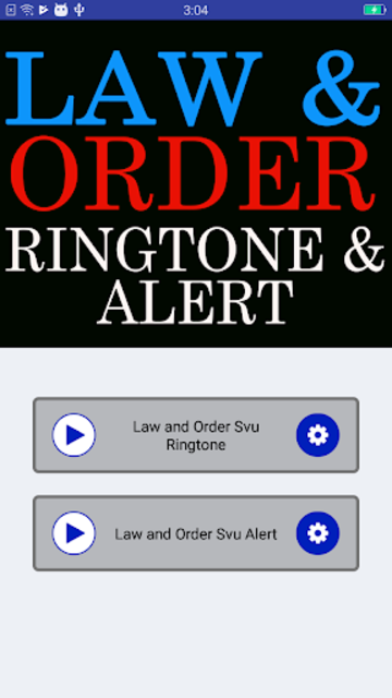 Law and Order Ringtone and Alert screenshot 2