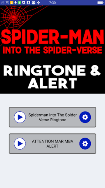 Spiderman Into The Spider Verse Ringtone and Alert screenshot 4