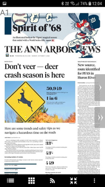 Ann Arbor News screenshot 1