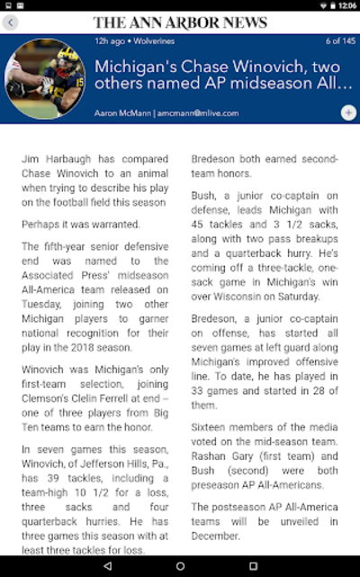 Ann Arbor News screenshot 8