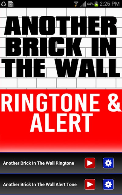 Another Brick In The Wall Tone screenshot 1