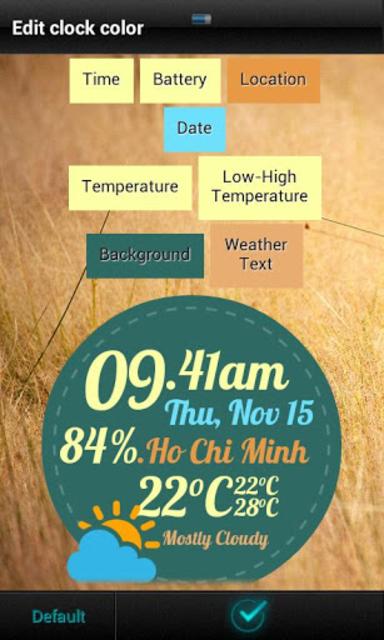 Beautiful Clock Widget Pro screenshot 7
