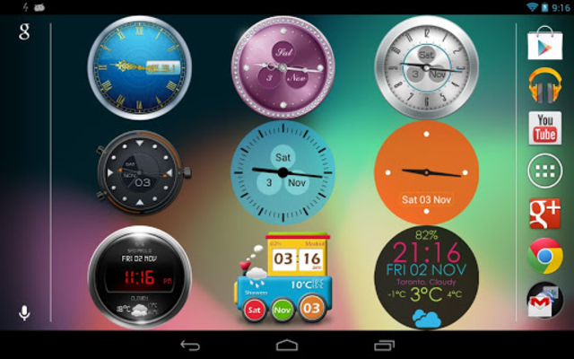 Beautiful Clock Widget Pro screenshot 1