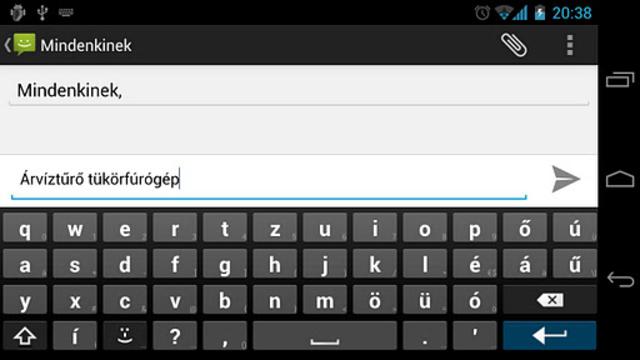 Magyar AnySoftKeyboard screenshot 2